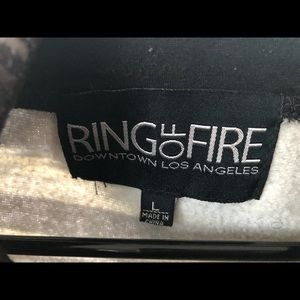Ring of Fire Shirts - Ring of Fire Hooded Sweatshirt - men's size large